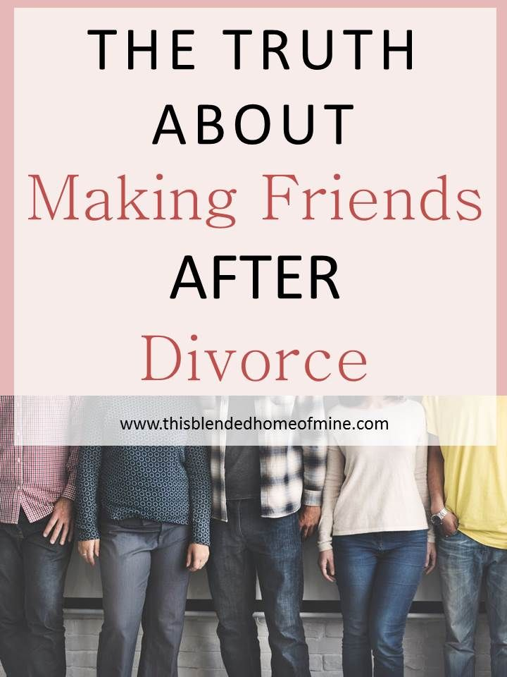 Making friends after divorce