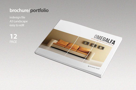 Check out Square Portfolio Brochure by banks on Creative Market - landscape brochure