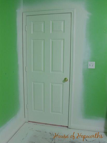 DIY painting trim and doors. www.houseofhepworths.com