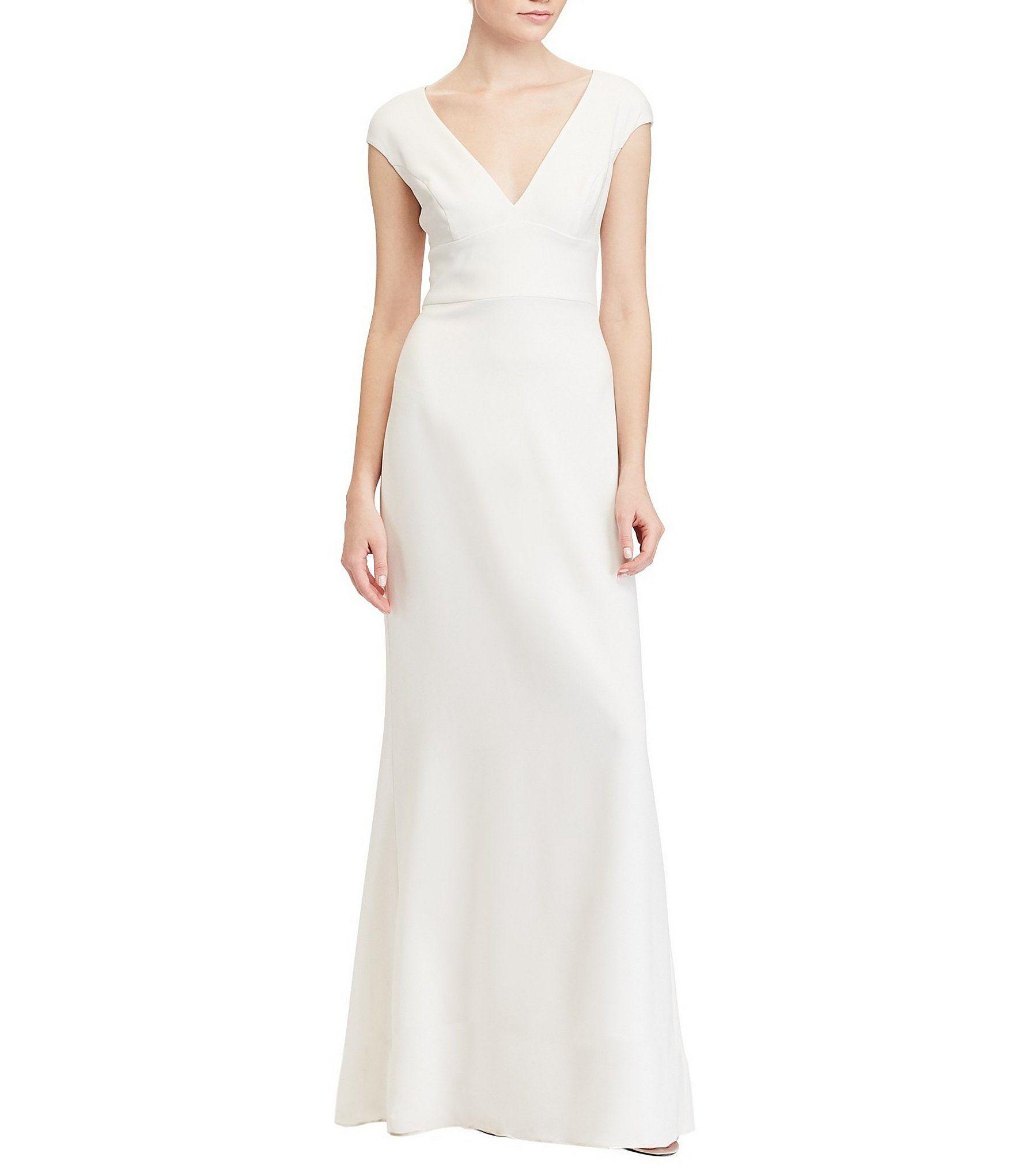 Shop for Lauren Ralph Lauren Stretch Crepe Gown at Dillards.com ...