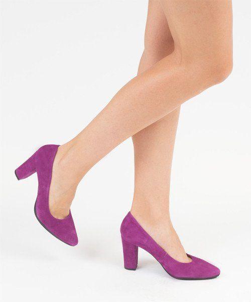 f9748726055cc Zapato salón mujer tacón color rosa fucsia cómodo - Comfort women s shoes  pump heel fuchsia pink- miMaO Urban