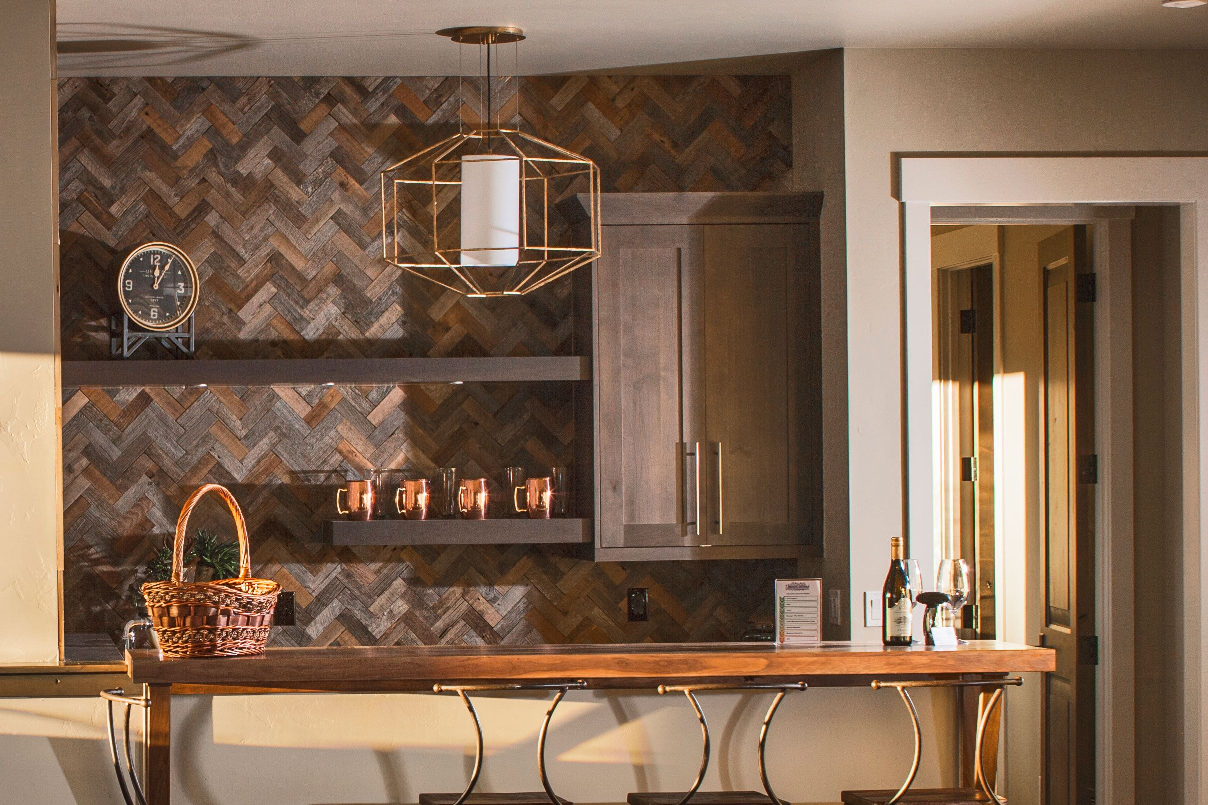 - ACCENT WALL OPTIONS- Reclaimed Barnwood Unfinished Rawhide Flats
