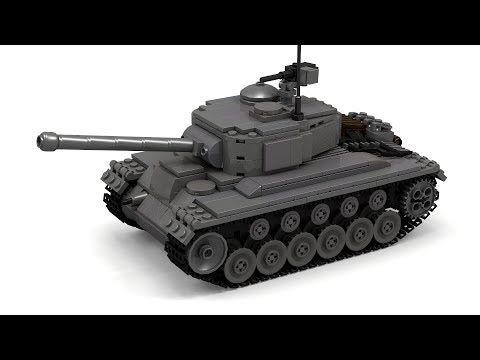 Lego Wwii M26 Pershing Tank Instructions Youtube Lego