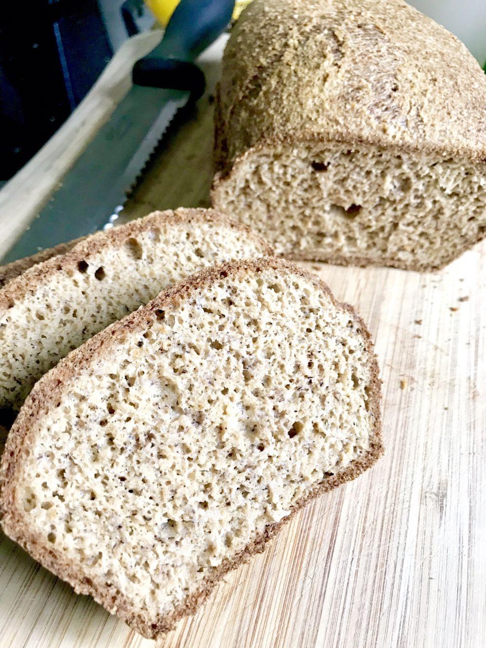 Easy Keto Bread Recipe Almond Flour And Psyllium Husk Easy Keto Bread Recipe Keto Bread Bread Recipes