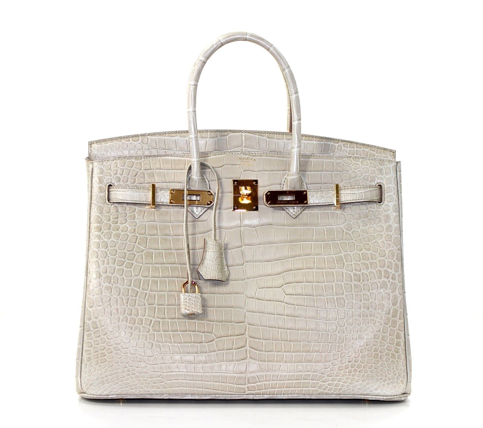 08ee4d3a8406 Hermès Beton Matte Porosus Crocodile Birkin Bag with Gold Hardware - Hermès  35 cm Beton Matte Porosus Croc Birkin- Never Carried