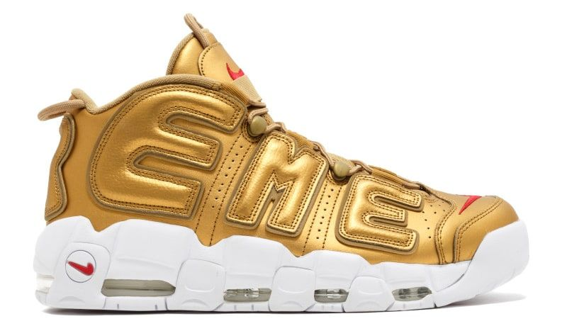 Supreme Nike Air More Uptempo Gold Release Date Profile