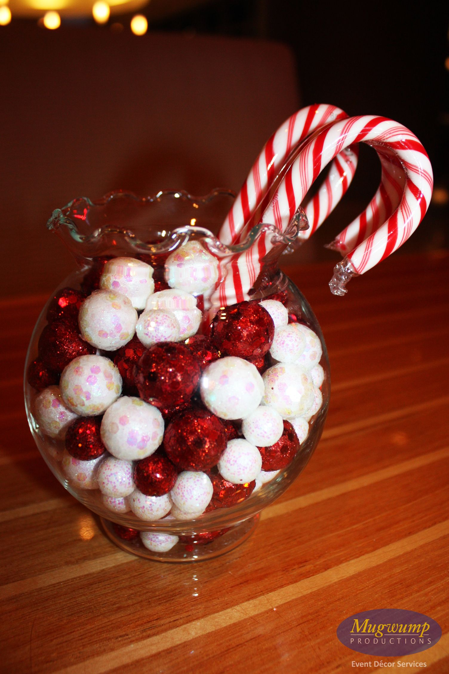 Candy cane christmas centerpiece things for
