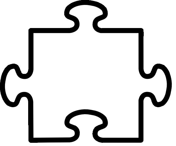 White Puzzle Piece Clip Art Vector Clip Art Online Royalty Free Imagen Puzzle Piece Crafts Autism Puzzle Piece Puzzle Piece Template