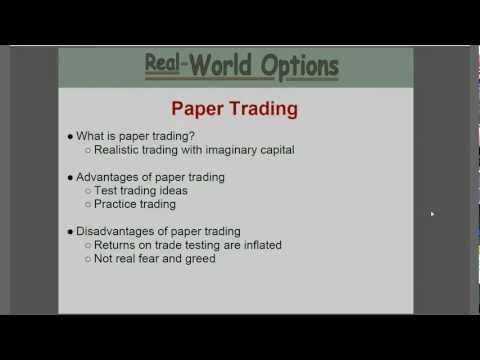 What is paper trading options
