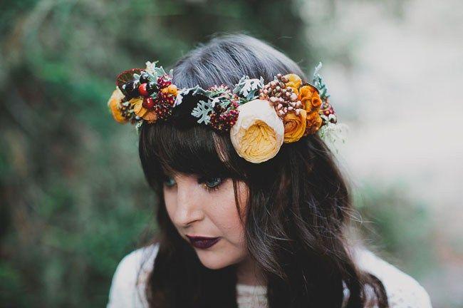 fall halloween flower crown