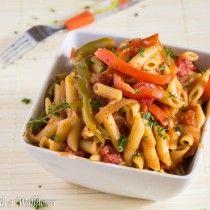Vegetable Fajita Pasta - Cooking with a Wallflower