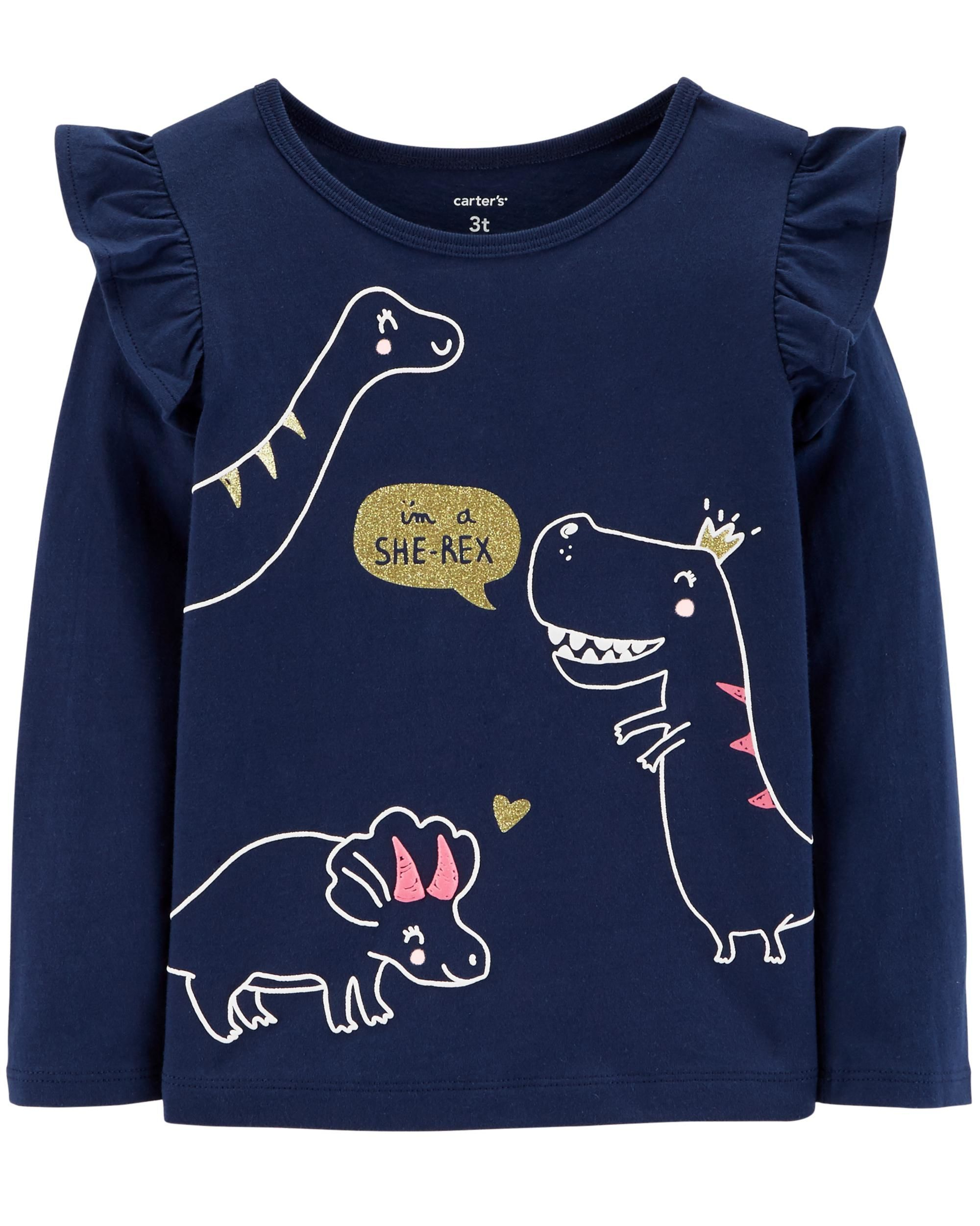 7a9bf50b5 Baby Girl Dinosaur Flutter Matchtastic Top