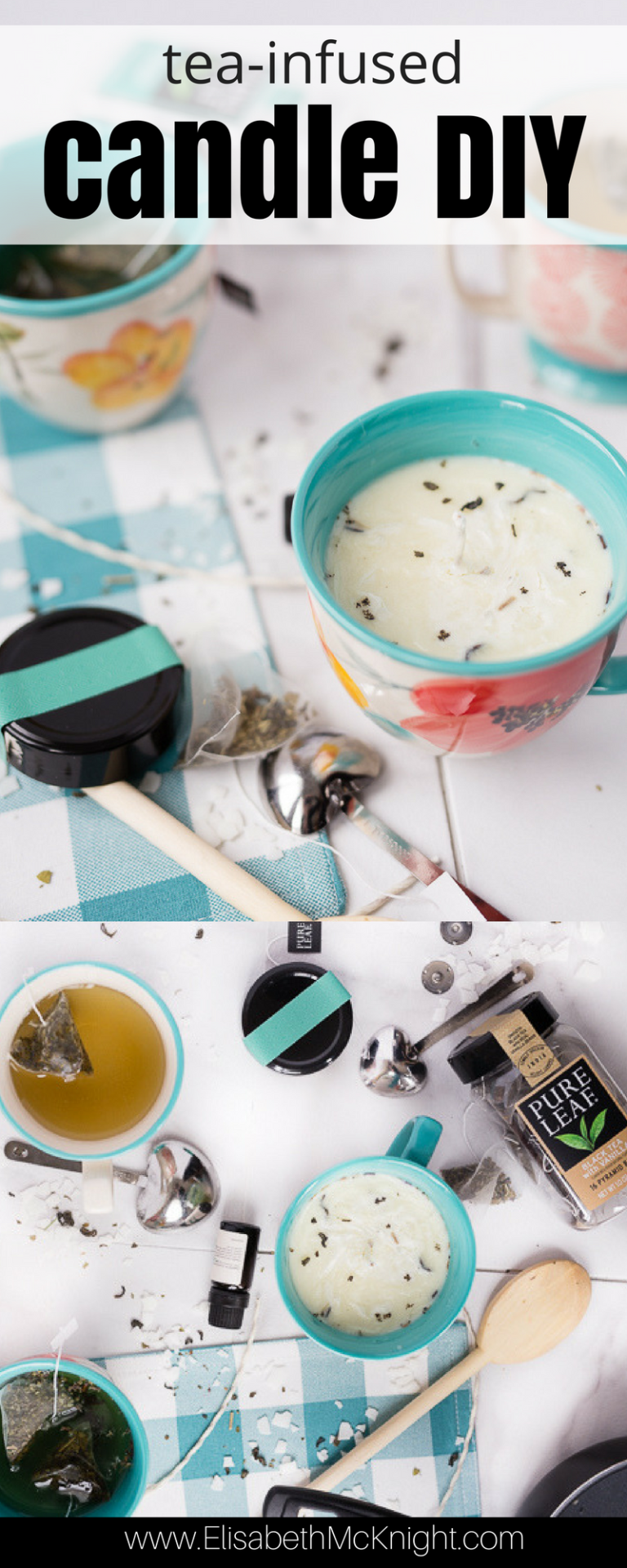 Tea Infused DIY Candles #scentedcandles