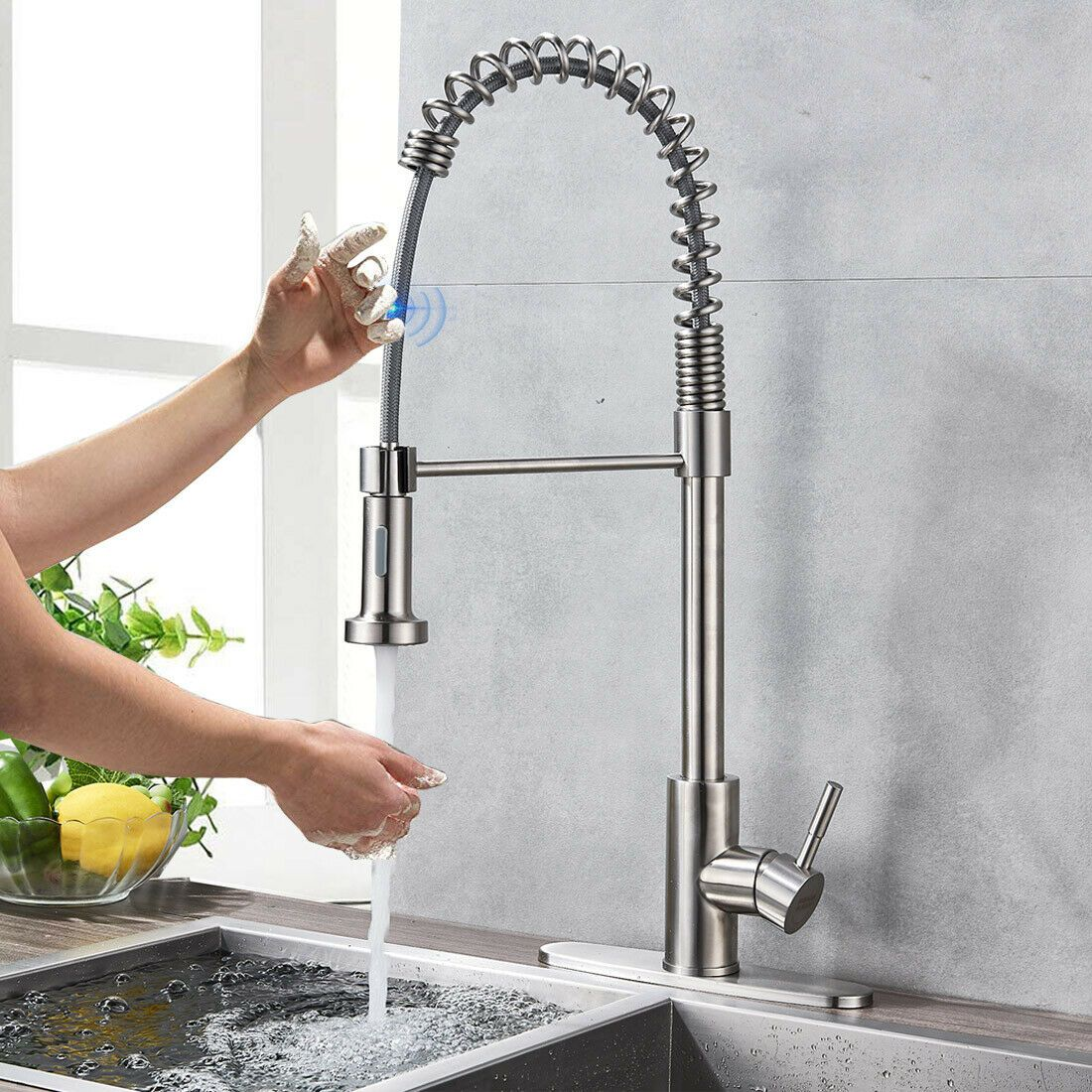 sensor touch kitchen sink faucets pull