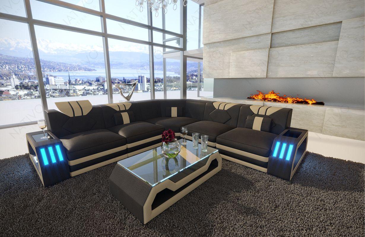Divano di design clermont corner con illuminazione a led divani