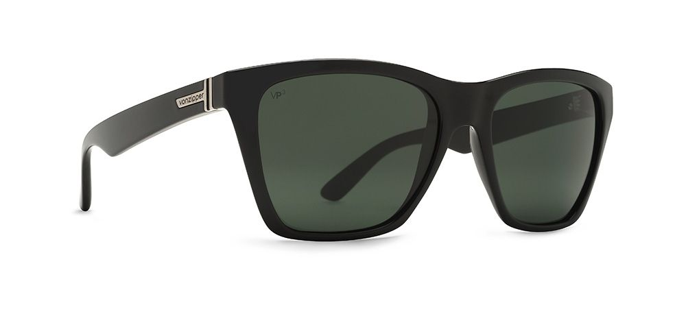 8260c20c0b VonZipper VP3 Polarized Booker Sunglasses in black gloss with grey poly  polar lenses.