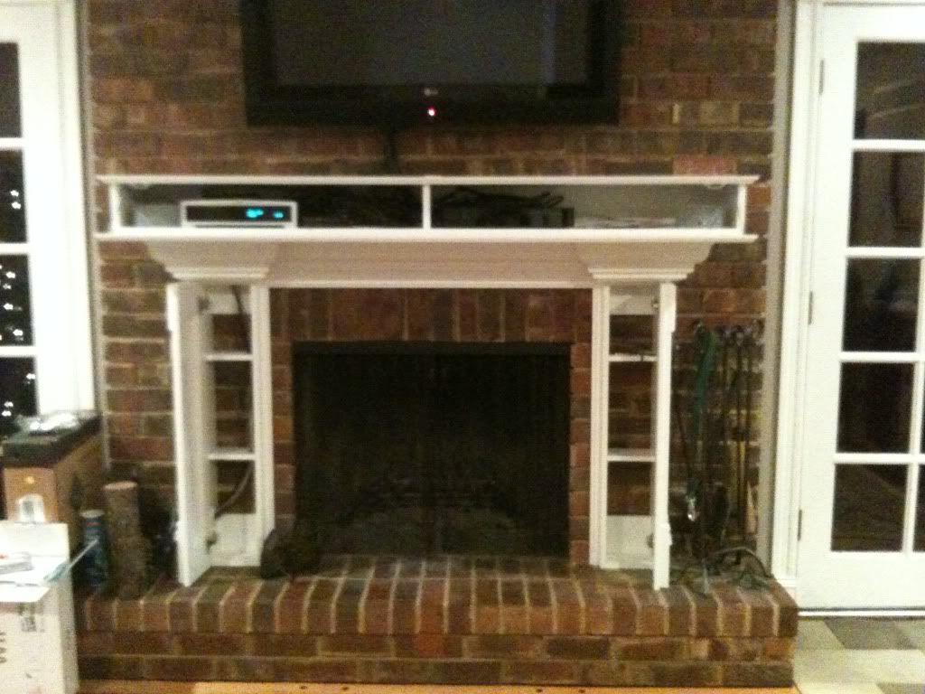 TV Over Fireplace Ideas   Flat screen TV over fireplace - ideas ...