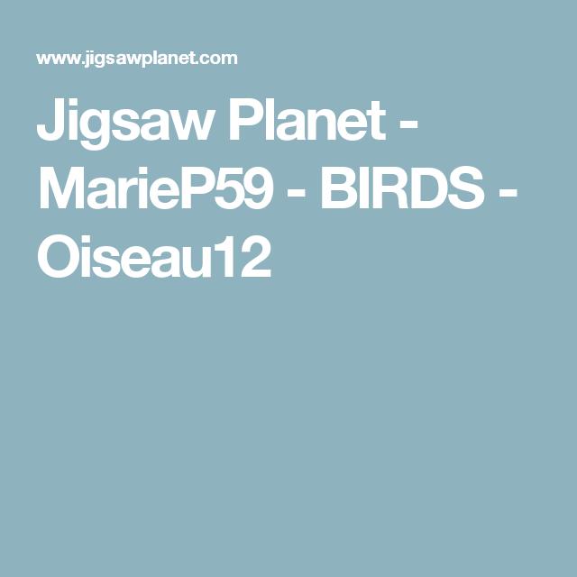 Jigsaw Planet - MarieP59 - BIRDS - Oiseau12