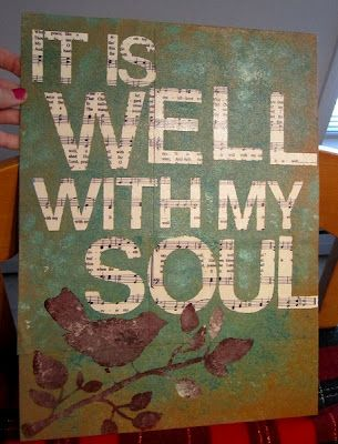 It is well with my soul.