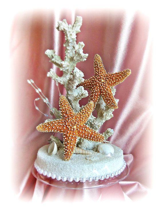 Starfish Wedding Cake Topper - Beach Wedding Cake Topper - Starfish ...