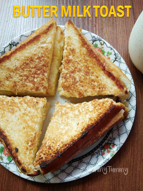 Butter Milk Toast Kids Breakfast Recipes