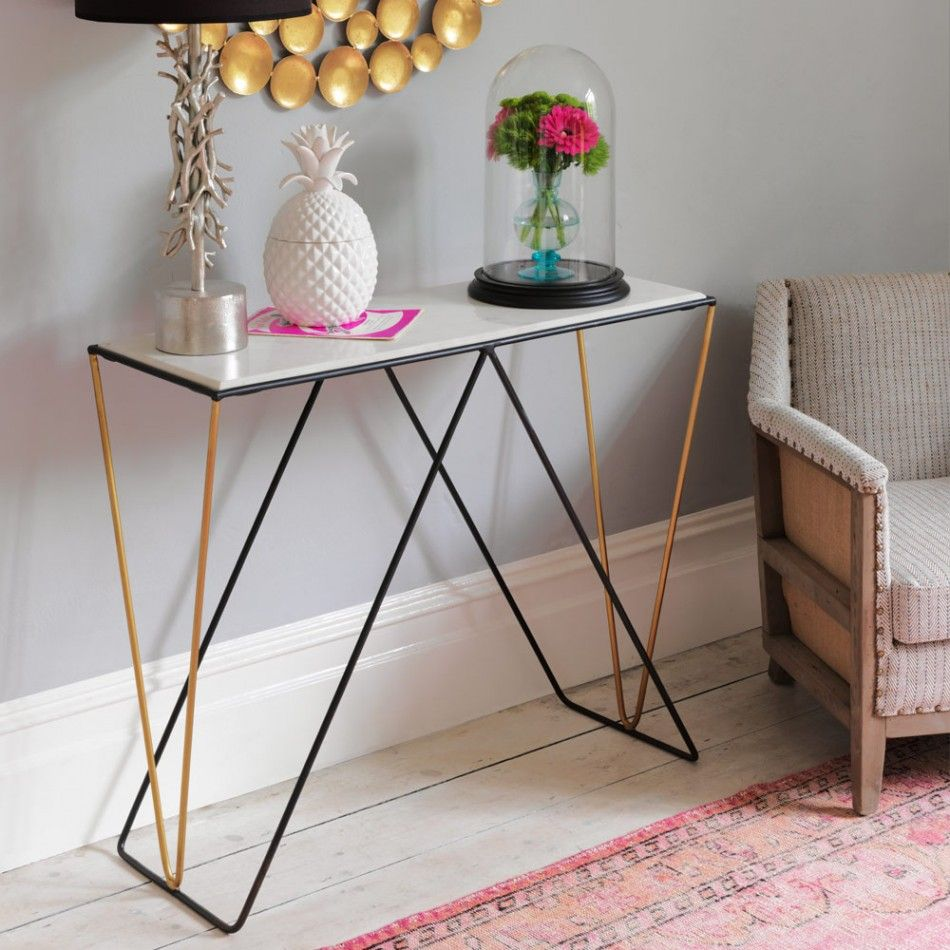 Detroit Marble Console Table In 2019 Entryway Ideas