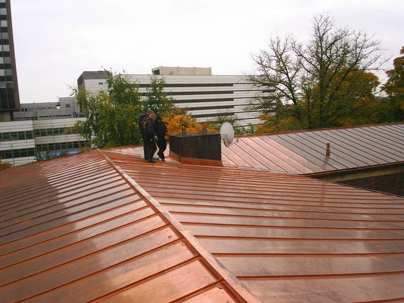 Handwerker Berlin bronzefarbenes metalldach ausführung durch die handwerker der bdg