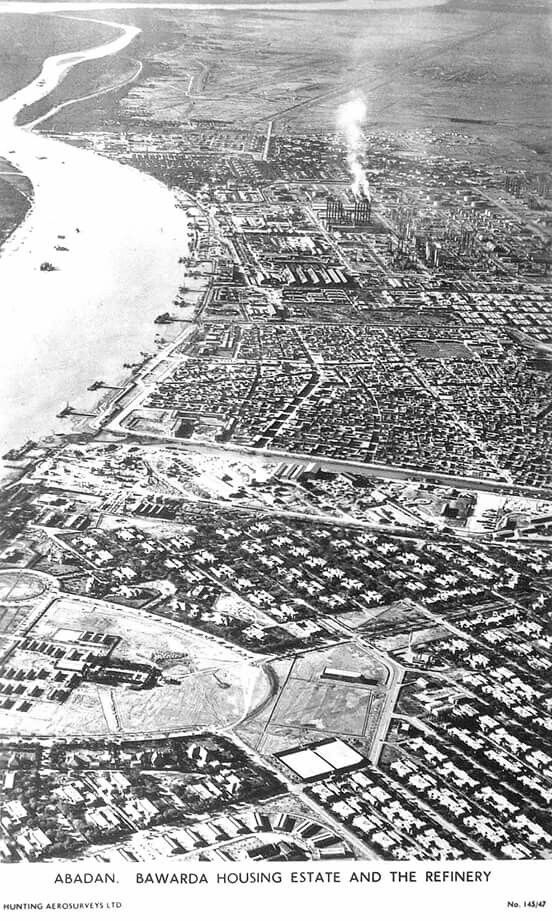 Abadan Bawarda housing estate and the Refinery 1930's