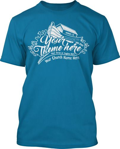 Noahs Flood One Color VBS T Shirt Design 16406