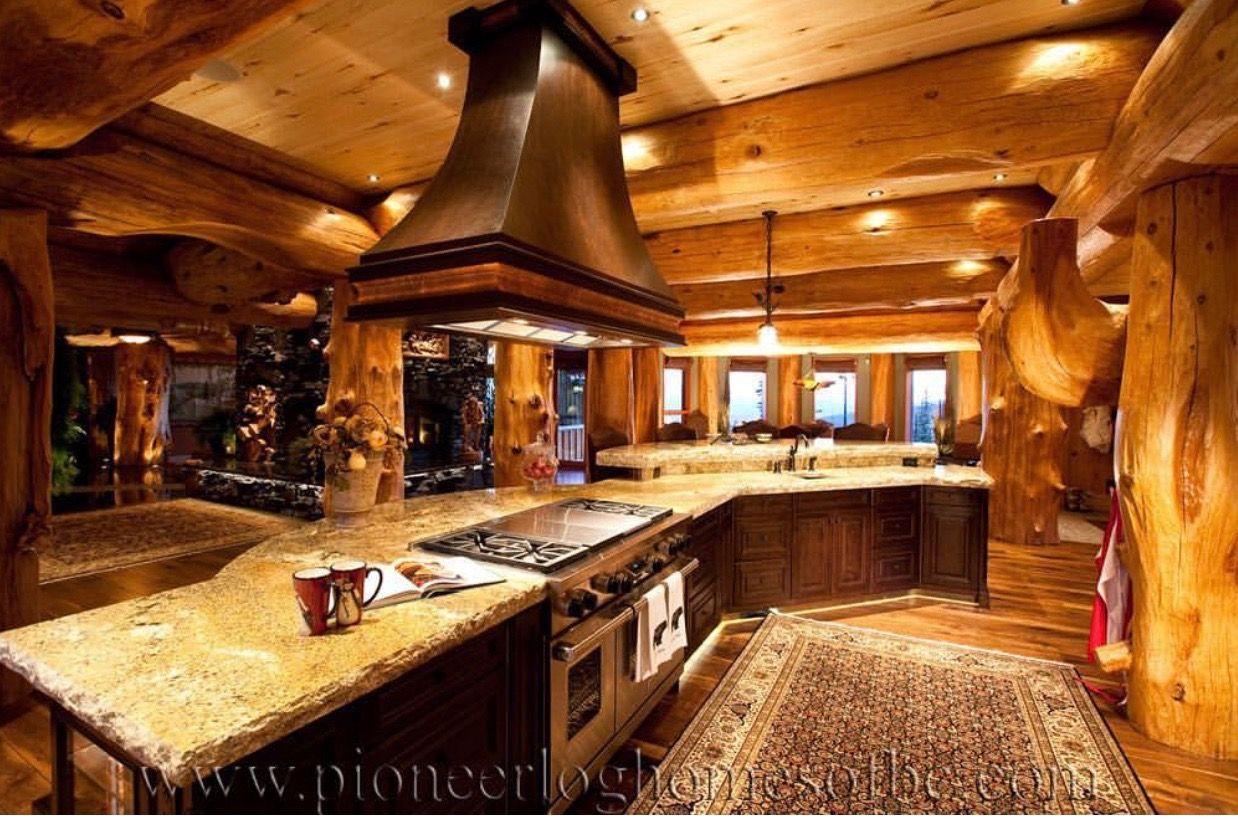 LogHome log kitchen home TimberKings Pioneer Log