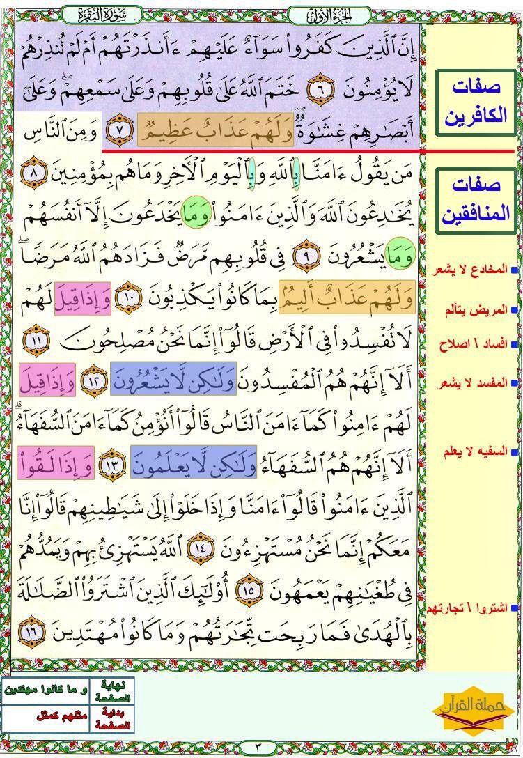 صفحة رقم ٢ سورة البقرة Islamic Quotes Quran Quotes