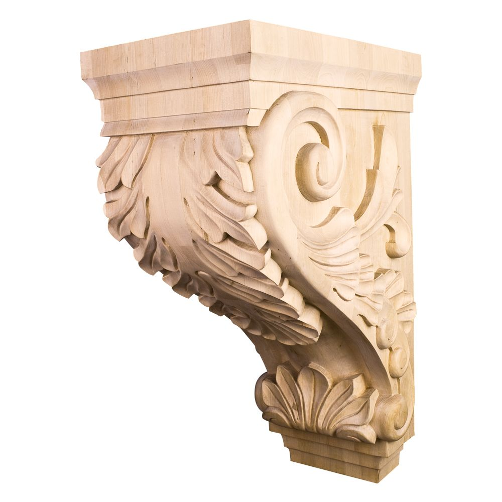 Corbb 24 Large Traditional Kitchen Hood Wood Acanthus Corbel 9 1 2 X 16 X 24 Corbels Hardware Resources Acanthus