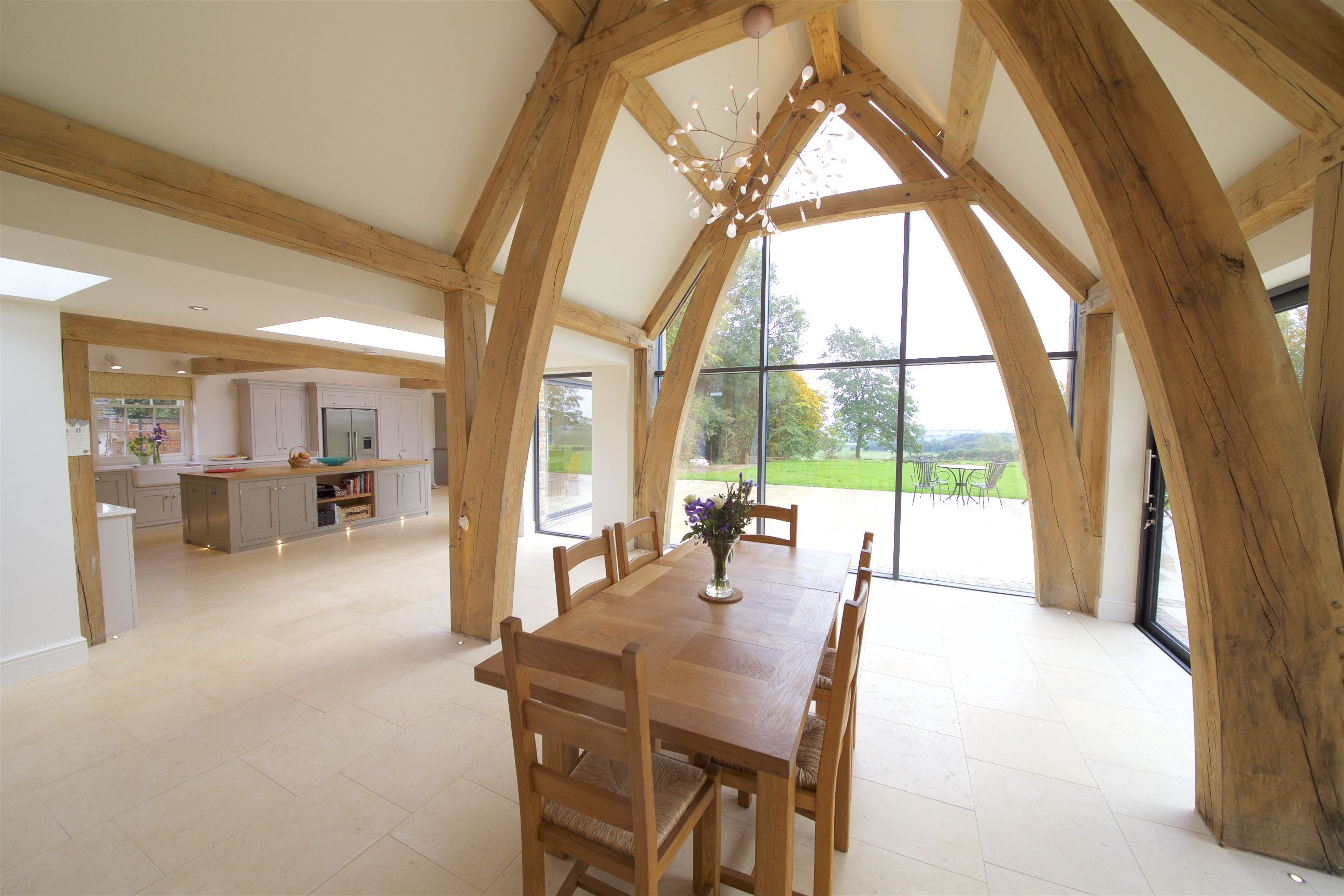 oak frame truss kitchen living room inspiration ideas oak frame rh pinterest com