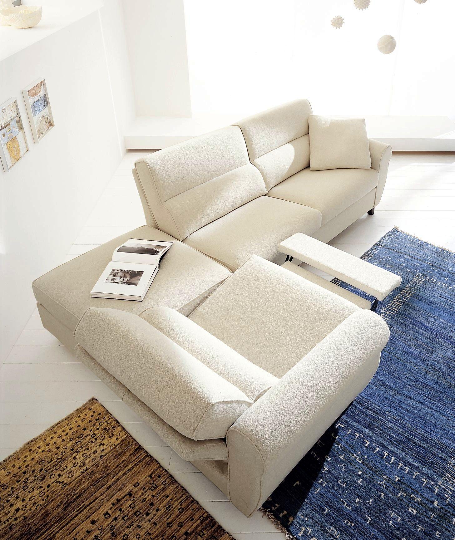 Eurosalotto Divano composizione con pouf bianco e sedute