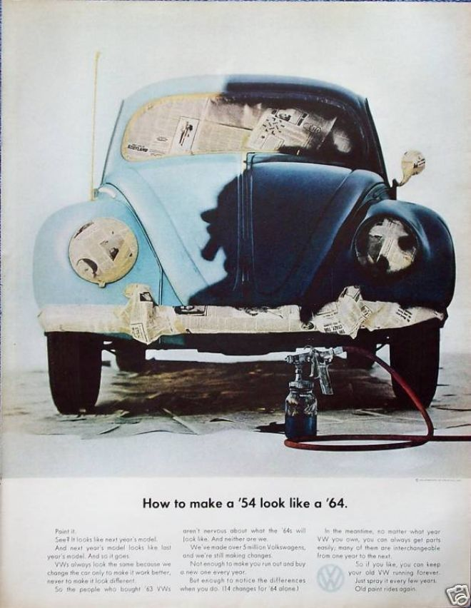 Volkswagen Beetle Bug Paint Job How To Make \'54 (1964) | Beetle ...