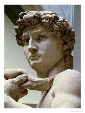 David, Detail of the Head, 1504By Michelangelo Buonarroti in 2019