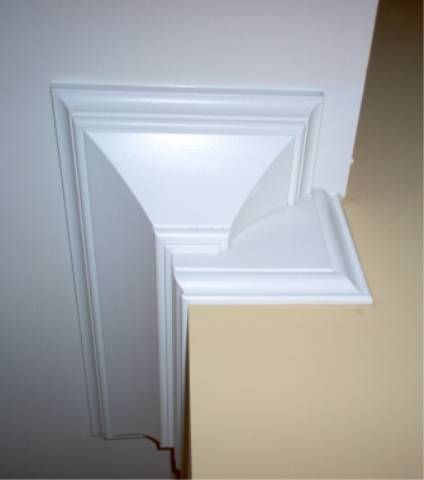 Double Crown Molding Corner Stop Moldings And Trim Crown Molding Ceiling Trim
