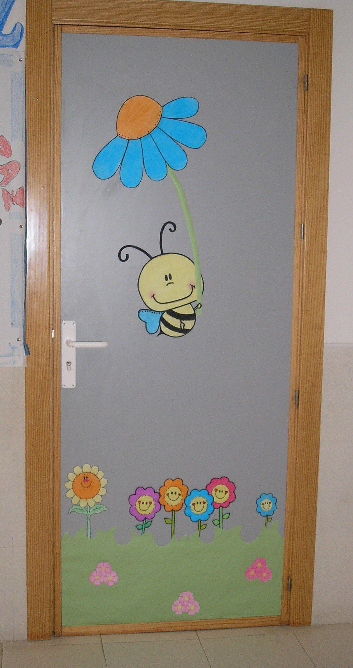 Mi puerta de infantil vestida de primavera cole de for Decoracion puerta aula infantil