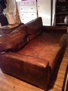 Extra Deep Leather Couch From Restoration Hardware
