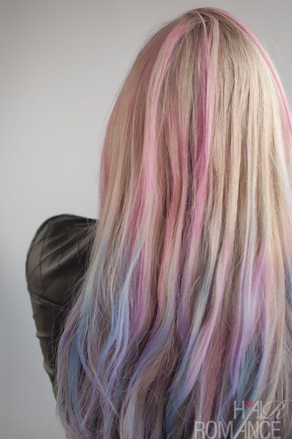pastels in blonde hair