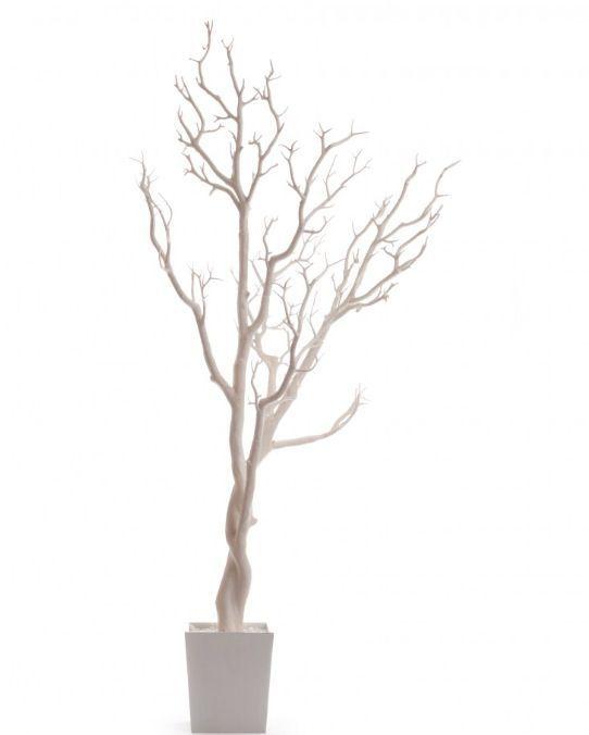 Baum äste Deko dekobaum 120cm kunstbaum silber glitzer künstlicher baum getopft