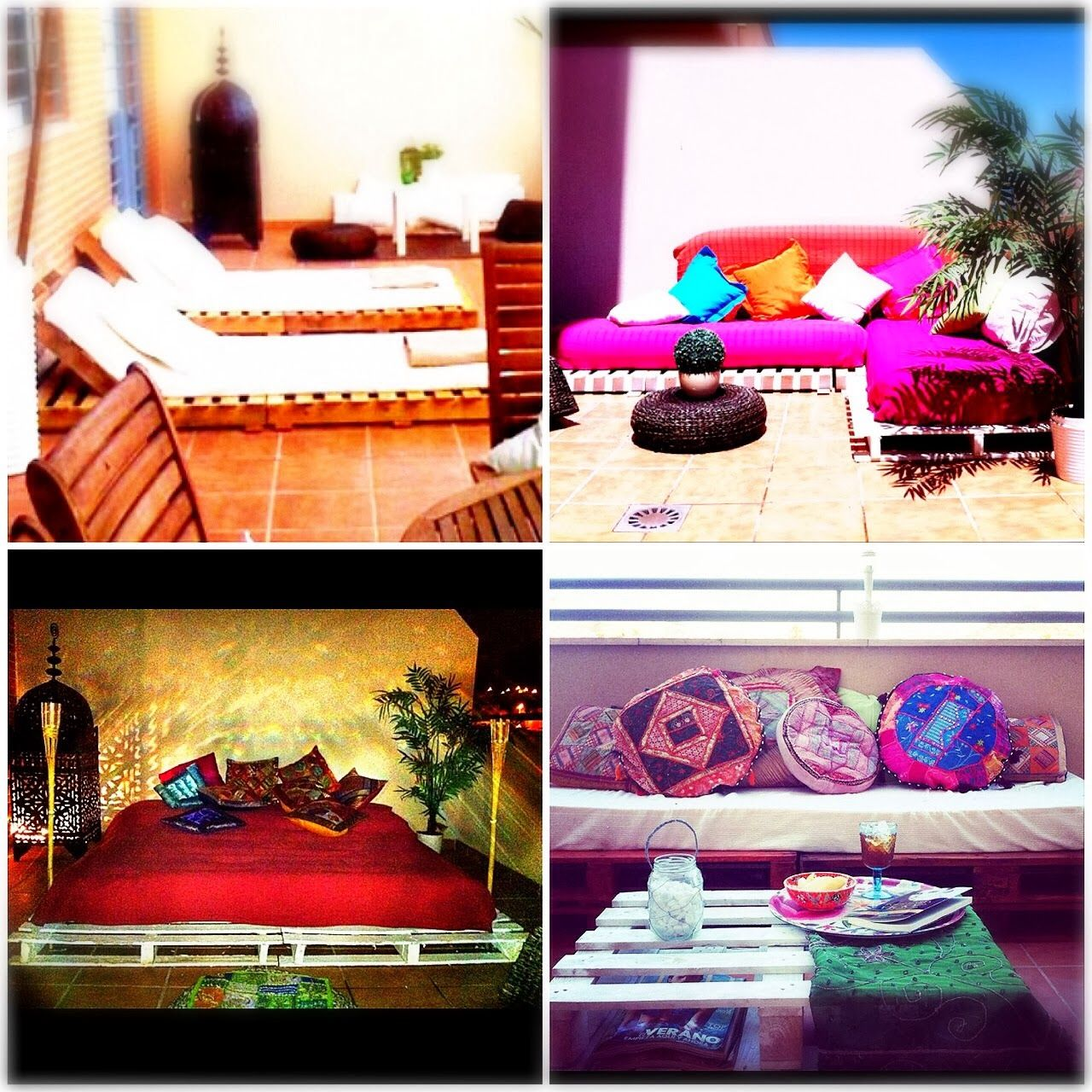 DIY palets terraza: un mismo palet, 4 ideas diferentes, una para cada año : x4duros.com