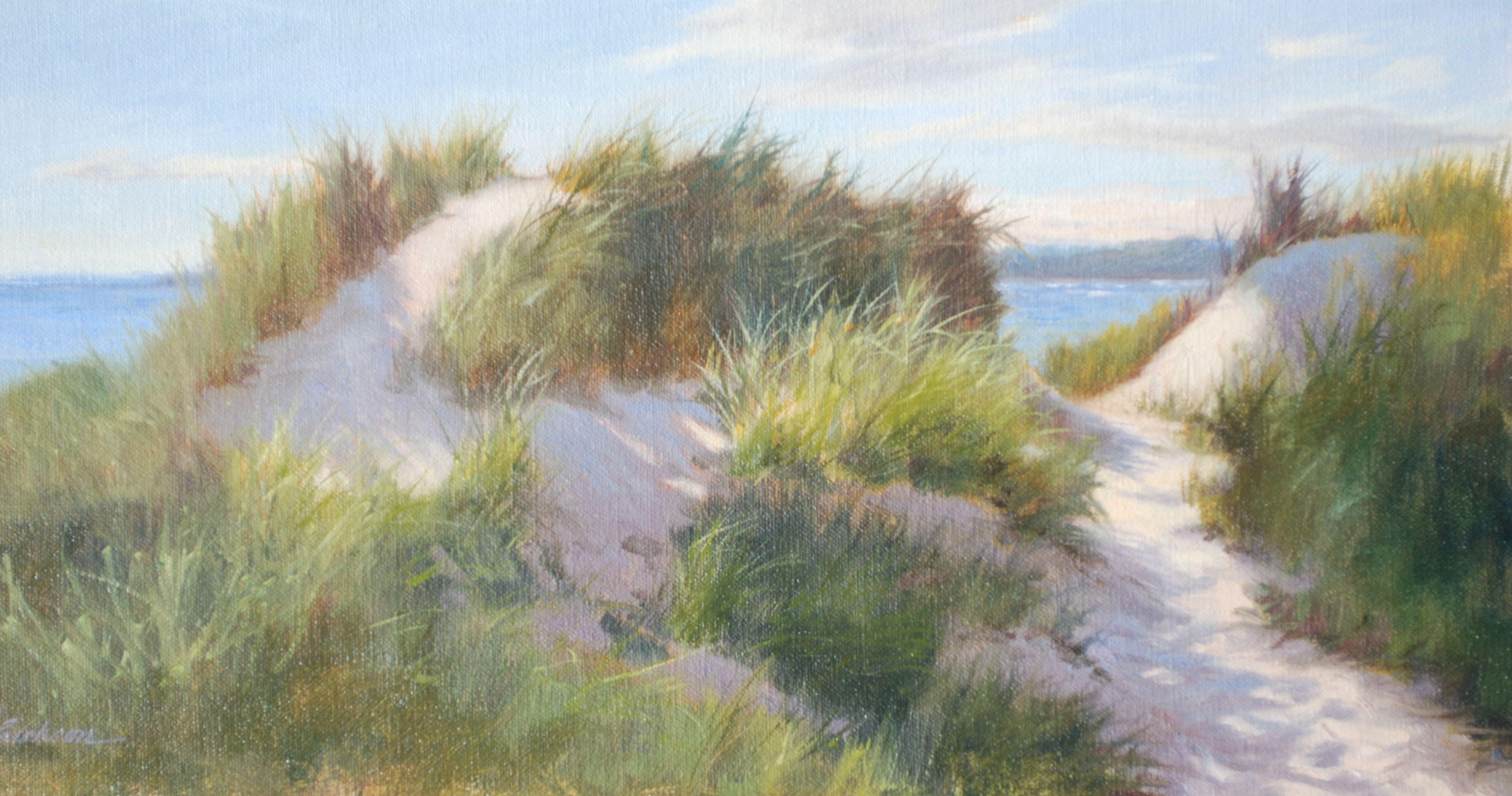 "Newport Beach Morning 8""x16"" ©Mary Erickson 2012 SOLD by Sheldon Fine Art, Newport, RI"