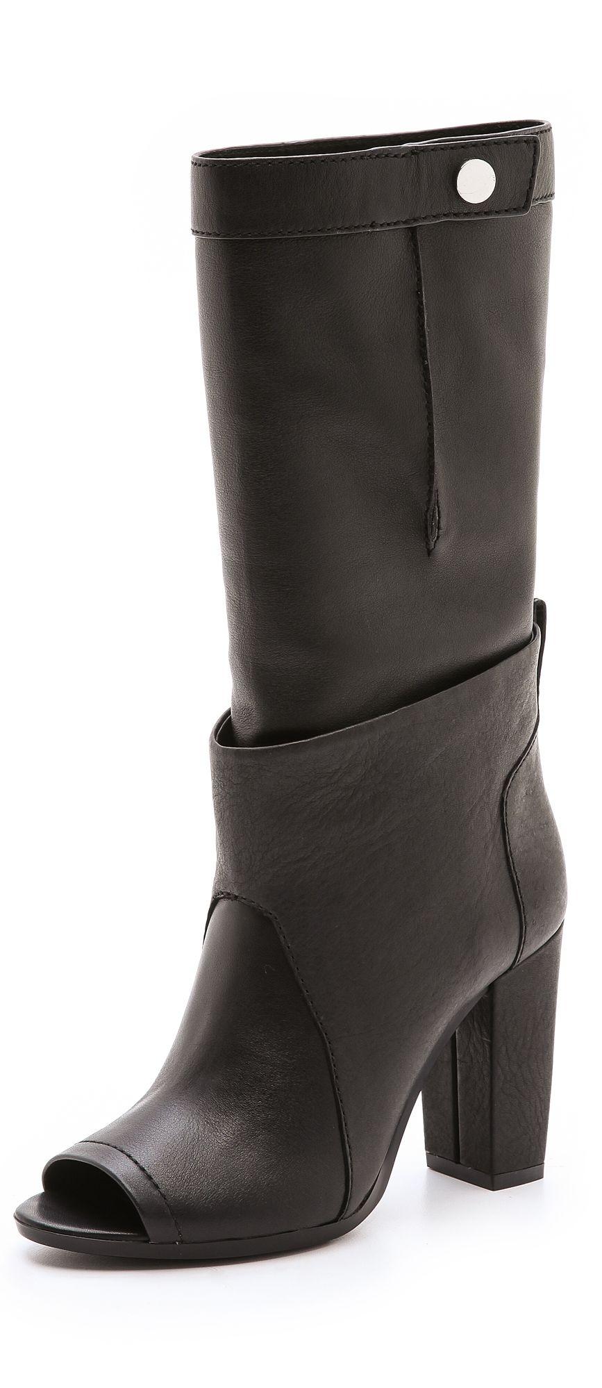 3.1 Phillip Lim Leather Peep-Toe Booties cheap nicekicks sale pick a best 2014 new sale online Jyt0kG05Hh