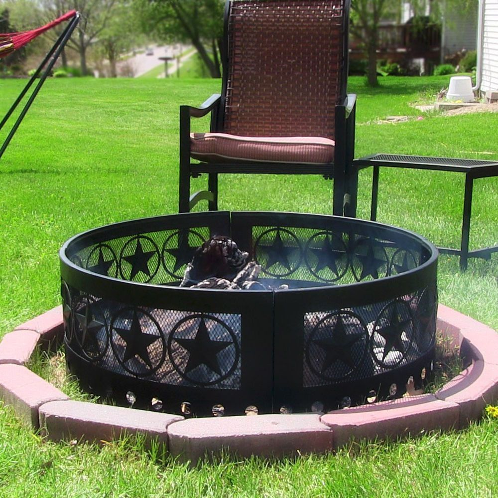 Steel Campfire Ring Firepit Outdoor Camping Backyard Patio Fireplace Fire Pit Sunnydaze Fire Pit Backyard Outdoor Fire Pit Outdoor Fire