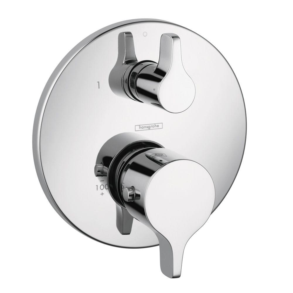 Hansgrohe Metris S E 2 Handle Thermostatic Valve Trim Kit With