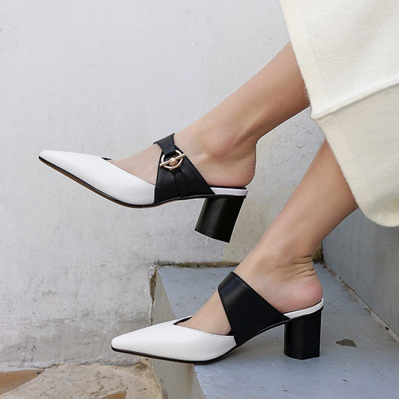 Chiko Katee Pointed Toe Block Heels Clogs/Mules
