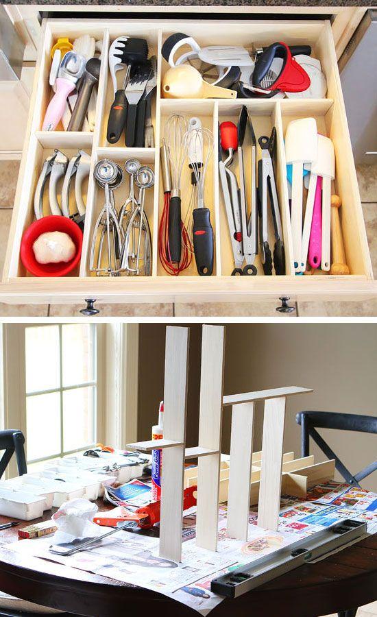 diy kitchen utensil drawer organizer click pic for 20 diy kitchen kitchen organization for on kitchen organization for small spaces id=15819