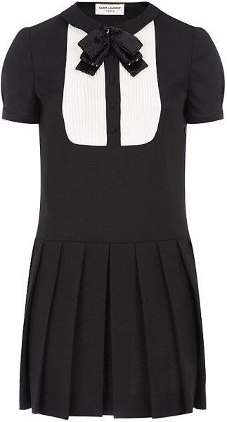 27b8b0a8b866 SAint Laurent Schoolgirl Dress - Lyst   Lil  Black Dress   Dresses ...