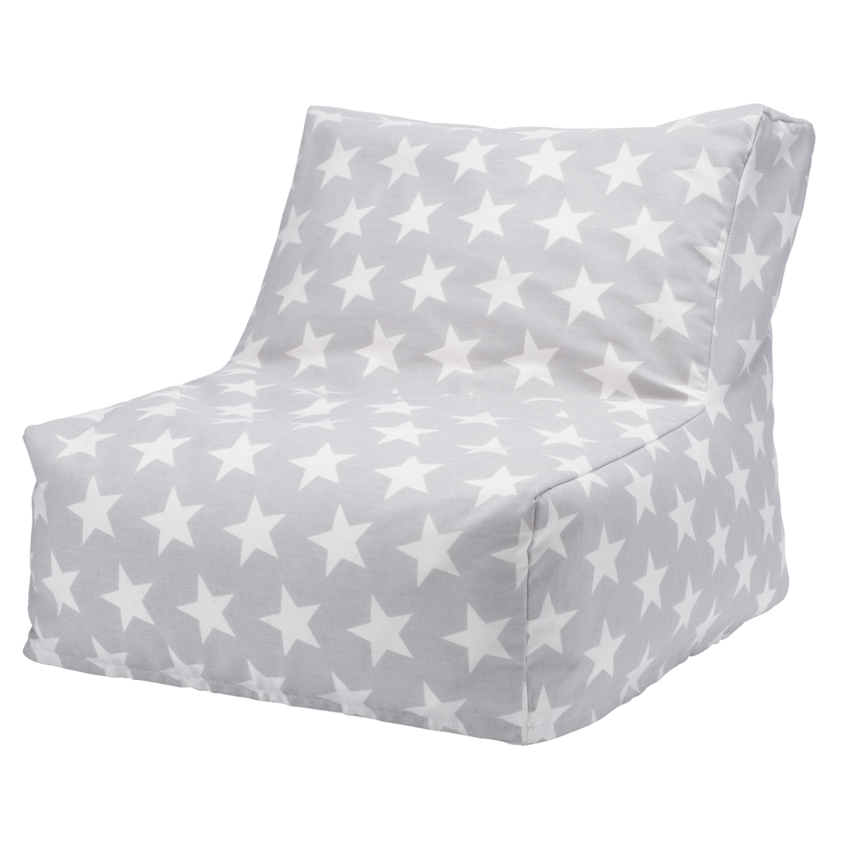 Washable Bean Bag Chair, Grey Star Great Little Trading